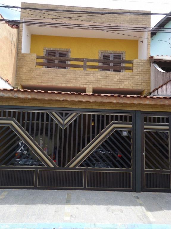 Sobrado com 4 dormitórios à venda, 121 m² por R$ 520.000,00 - Assunção - São Bernardo do Campo/SP