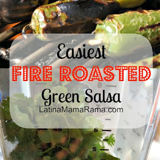 Easiest Fire Roasted Green Salsa