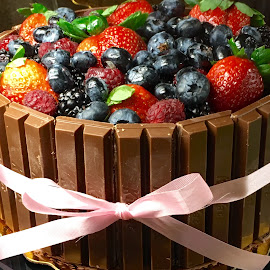 Fresh Fruit Chocolate Cake by Lope Piamonte Jr - Food & Drink Cooking & Baking