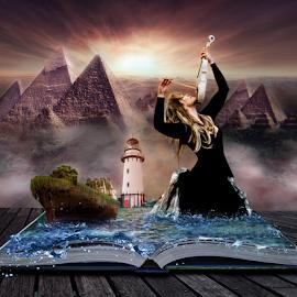 The power of books by Gary Power - Digital Art People ( music, model, digital art, art, photoshop )