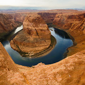 Horseshoe Bend by Debra Melton - Landscapes Travel ( arizona, landscape, horseshoe bend, evening, canyons )
