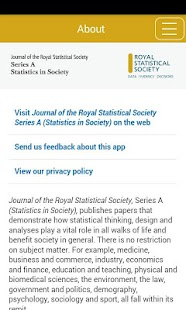 Journal of the RSS Series A - screenshot