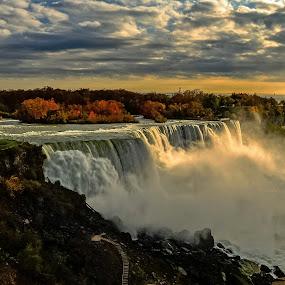 Niagara Falls by Ioannis Alexander - Landscapes Waterscapes ( cloudy sky, waterfalls, waterscape, landscape, water vapors,  )