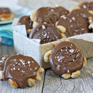 Cashew Caramel Chocolate Turtle Clusters
