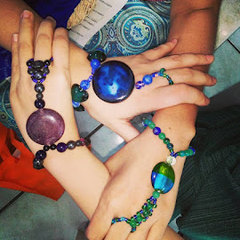 united feminist hand agate gems by Amiya Velayo - Artistic Objects Jewelry