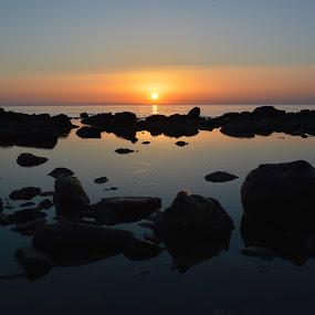 Sunset and rocks by Olsi Belishta - Novices Only Landscapes ( sunset, albania, kepi i rodonit )