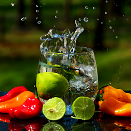 by Dipali S - Food & Drink Fruits & Vegetables ( water, peppers, splash, lime )
