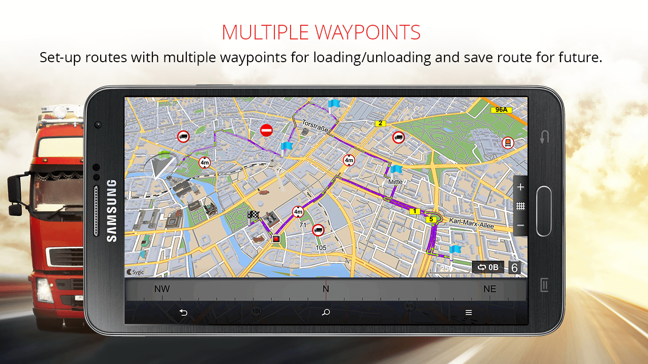 Sygic Professional Navigation Screenshot 1
