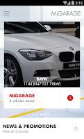 Screenshot of miGarage