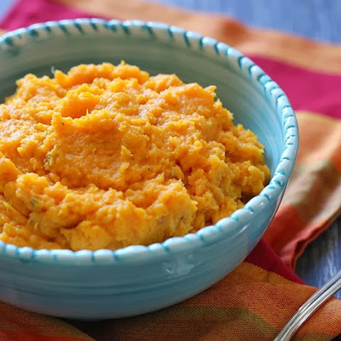 Slow Cooker Garlic Sweet Potato Mash