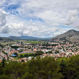 Panorama Trebinje by Jovica Panić - City,  Street & Park  Vistas ( landscape photography, panorama, panoramic, landscape )