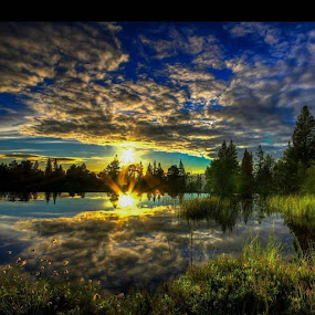 Sunset 😀 by Ann-Inger Babben Aasen - Landscapes Sunsets & Sunrises ( sommer, ranaklick, i_love_norway, helgeland, visitnorway, sunset, love_world, best_of_the_day, ligthupmysoul, ir_ig, canon_photos, canon7d, canon )