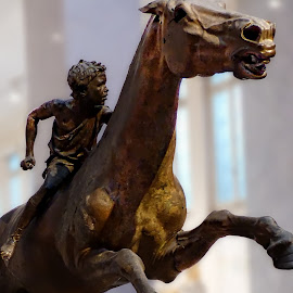 Boy on a horse by Costa Philippou - Buildings & Architecture Statues & Monuments