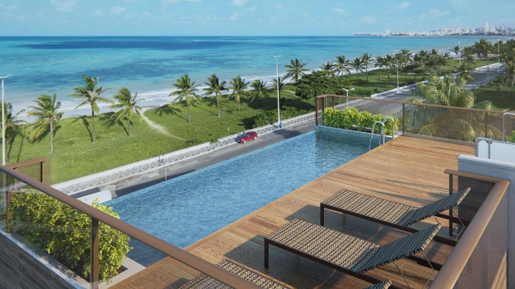 Apartamento com 2 dormitórios à venda, 80 m² por R$ 420.000 - Intermares - Cabedelo/PB