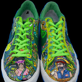 420 shoes by Colleen Flynn - Artistic Objects Clothing & Accessories ( shoes, cocolaroo916, 420, marijuana, nike )