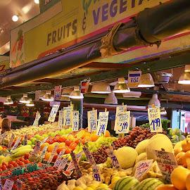 Public Market.   by Shari Linger - Food & Drink Fruits & Vegetables ( market, seattle, food, fruits and vegetables, waterfront, pike place market )