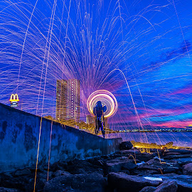 Karpal Singh Drive by Lim Keng - Abstract Light Painting