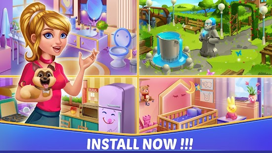 Home Interior Design House Mansion Match 3 Blast for pc
