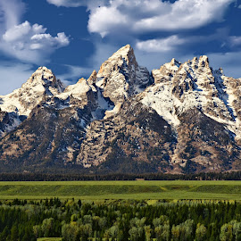 Grand Tetons by Brian Blood - Landscapes Mountains & Hills ( idaho, park, grand, wyoming, tetons )