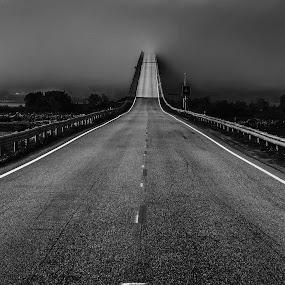 fog bridge by Bjørn Johnsen - Landscapes Cloud Formations ( bridge )