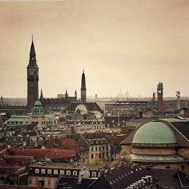 The city of Copenhagen  by Søren Bøisen - Buildings & Architecture Public & Historical ( copenhagen, capital, denmark, cityscape, towers )