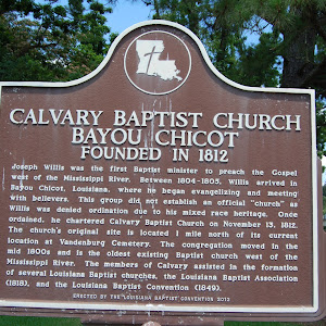Founded in 1812.  Joseph Willis was the first Baptist minister to preach the Gospel west of the Mississippi River. Between 1804-1805, Willis arrived in Bayou Chicot, Louisiana, where he began ...