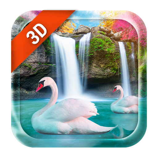 3D Live Wallpaper Waterfall& Swan (app)