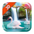 App 3D Live Wallpaper Waterfall& Swan APK for Kindle