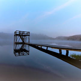 Fog over the water by Roald Heirsaunet - Buildings & Architecture Bridges & Suspended Structures