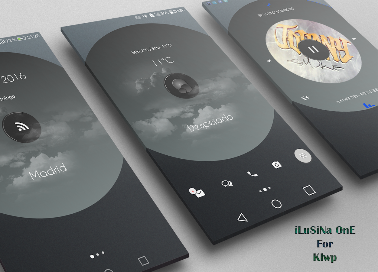 ILuSiOna One XIU for Klwp Screenshot