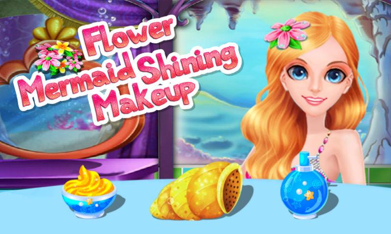android Flower Mermaid Shining Makeup Screenshot 0
