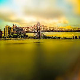 Queensboro bridge by Maks Erlikh - City,  Street & Park  Skylines ( east riveir, queensboro bridge, queens, \ny bridges )