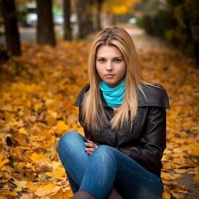Autumn. by Sergiu Radu - People Portraits of Women