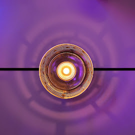 Candlelight by Luka Radulović - Abstract Light Painting ( candle, ight, blue, violet, table )