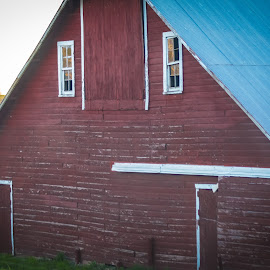 Red Barn by Gary Wahle - Buildings & Architecture Other Exteriors ( farm, iowa, red barn, barn,  )
