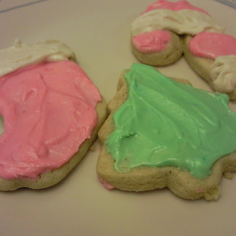 Christmas Sugar Cookies with Peppermint Frosting