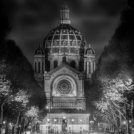 the DOME by Selaru Ovidiu - Buildings & Architecture Places of Worship ( black and white, night, architecture )