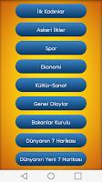 Screenshot of KPSS Güncel Bilgiler Widgetli
