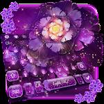 Purple Gorgeous Flowers Neon Keyboard Theme Icon