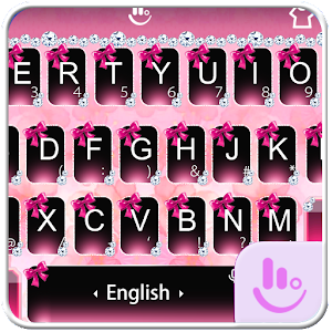 Diamond Pink Glitter Bowknot Keyboard Theme For PC