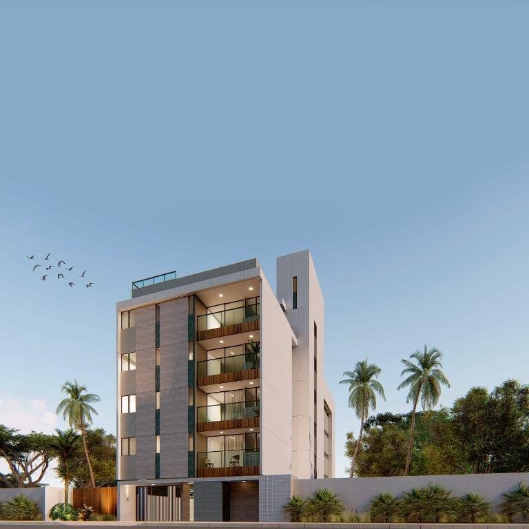 Cobertura duplex em Camboinha com 160m², 03 vagas de garagem