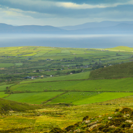 A Relaxing View in Ireland by Sean Doran - Landscapes Mountains & Hills ( hills, dingle, ireland, green, view, relax, tranquil, relaxing, tranquility )