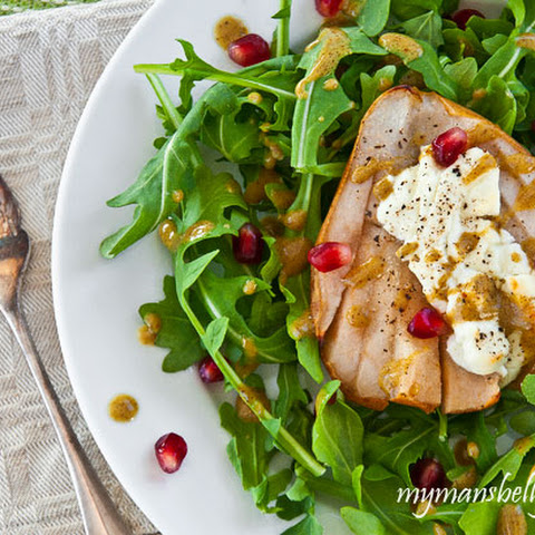 Winter Salad with Baked Pears