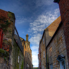 Old Road by Mark Holm - City,  Street & Park  Neighborhoods ( england, brick, victorian, whitby, road )