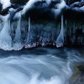 ice curtain by Mrak Rado- Fotograf - Landscapes Waterscapes ( water, curtaine, cold, ice, ice cold,  )