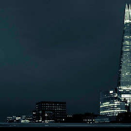 The Shard at night by Romain Dumaine - City,  Street & Park  Skylines ( shard, london, architecture, nightscape )