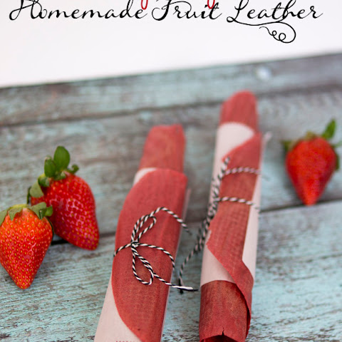 Strawberry Pomegranate Fruit Leather