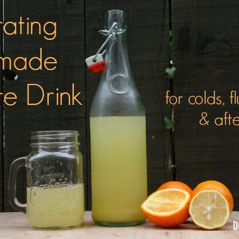 Homemade Citrus Electrolyte Drink – Great for Colds, Flu, Stomach Flu and Rehydration After Sports