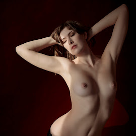 by Xavier Wiechers - Nudes & Boudoir Artistic Nude ( model, nude, mansion, canada, beautiful, sienna hayes, white, beauty, vancouver, caucasian, pose, gorgeous, woman, bare, light, tall, british columbia )