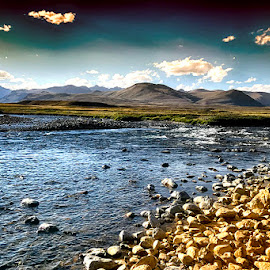 Deosai by Abdul Rehman - Instagram & Mobile iPhone ( water, paltu, pakistan, mountains, deosai, waterscape, landscape, stones )